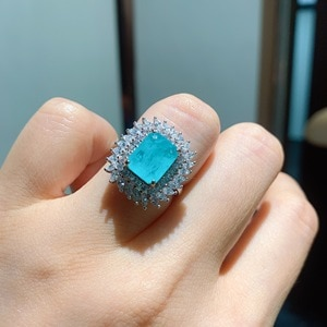 Funmode Hot Sale Simple AAA  Blue Green CZ Female Girls Ring Women Wedding Party Jewelry Ring anillos mujer Wholesale FR68