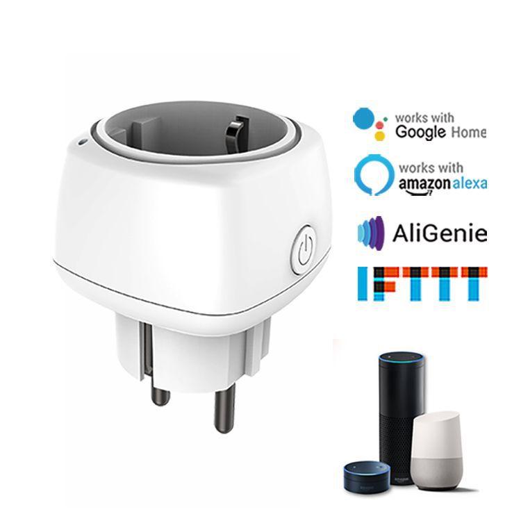 Wi fi inteligente tomada de controle remoto sem fio inteligente temporizador plug ue casa fogo retardador pc inteligente tomada de energia plugue da ue