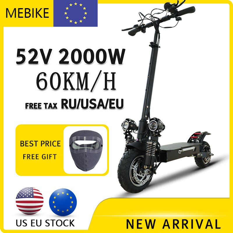 Scooter Eléctrico plegable de alta velocidad para adultos, patinete eléctrico potente de...