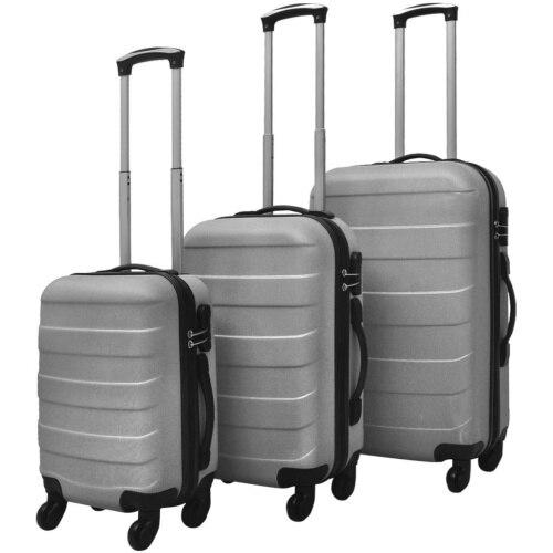 【USA Warehouse】3 Piece Hardcase Trolley Set Silver
