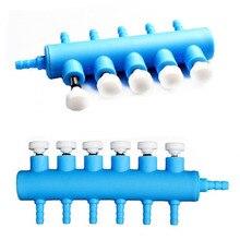 De alta calidad de aire de acuario divisor Válvula de tanque de peces bomba de aire bomba de flujo del divisor del distribuidor de la válvula de la bomba palanca grifo de Control de válvula de conmutación
