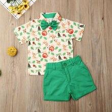 Kinder Baby Jungen Gentleman Kleidung Set 2019 Kleinkind Formale Anzug Lions Tiger Kurzarm Shirt Shorts Sommer Outfits Kleidung 2PCs
