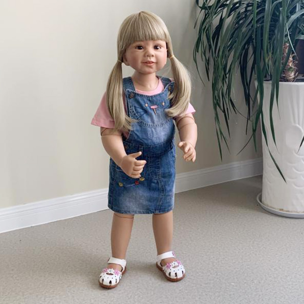 87CM enorme bebé niño niña realista lleno bolas de vinilo articulado real age2 vestido bebé reborn muñeca modelo obra maestra coleccionable