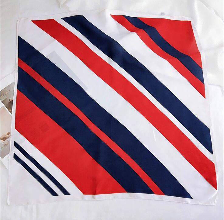 Pañuelo Foulard de 70 colores para mujeres, pañuelo cuadrado de bloque de Color, cinta para la cabeza femenina para oficina, manta para anfitriona, bolsa pequeña, bufandas 2020 70X70cm