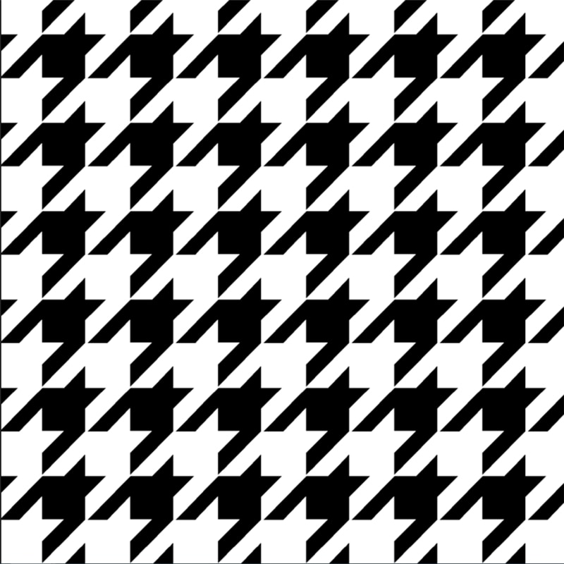 wellyu Houndstooth black and white lattice modern minimalist plain Nordic style bedroom living room background wall paper