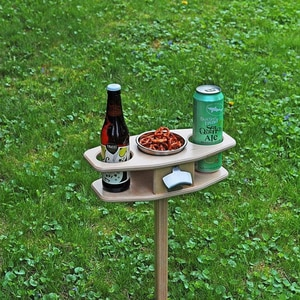 Table For Wine Outdoor Wine Table With Foldable Round Desktop Mini Wooden Picnic Table Wedding Birthday Picnic Party Tools