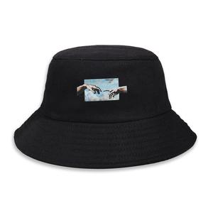 2021 four seasons Cotton personality pattern Bucket Hat Fisherman Hat outdoor travel Sun Cap for Men and Women 04