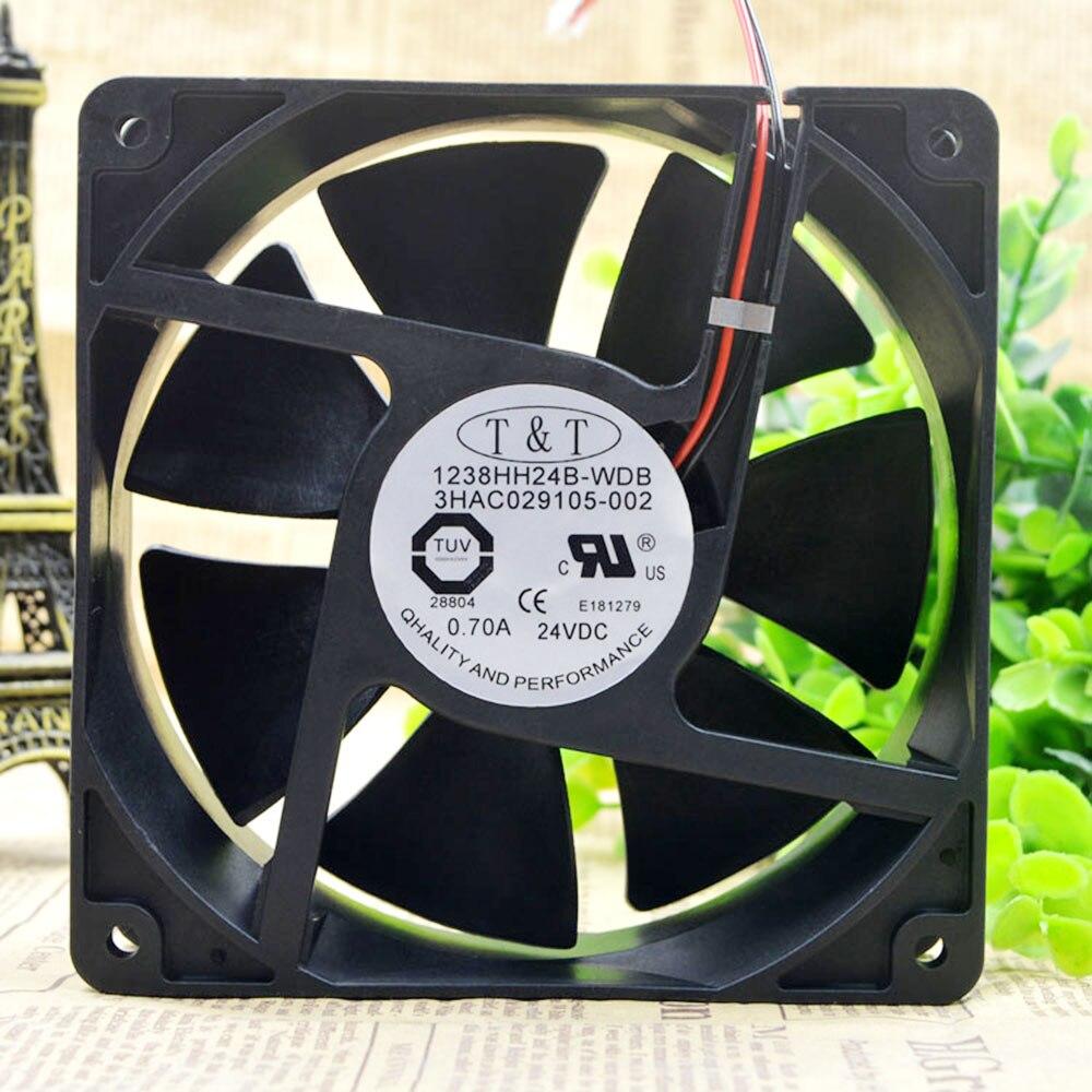 Para ventilador de refrigeración TT 1238HH24B-WDB 3HAC029105-002 24V 0.70A ABB Robot controlador ventilador 12038 120X120X38MM
