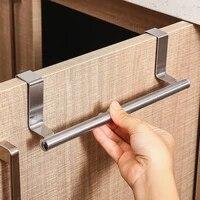 Porte-serviettes en acier inoxydable  pour salle de bain  porte de cuisine  coffre  rangement a domicile  etagere de rangement pour articles divers