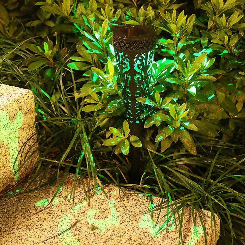 Уличный светодиодный фонарь на солнечной батарее, светильник теплый белый свет для сада, дорожек, газона, патио, двора, дорожек