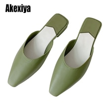 Sandalias de punta cuadrada para mujer, Sandalias planas de Color caramelo a la moda de verano y otoño, Calzado cómodo para la playa