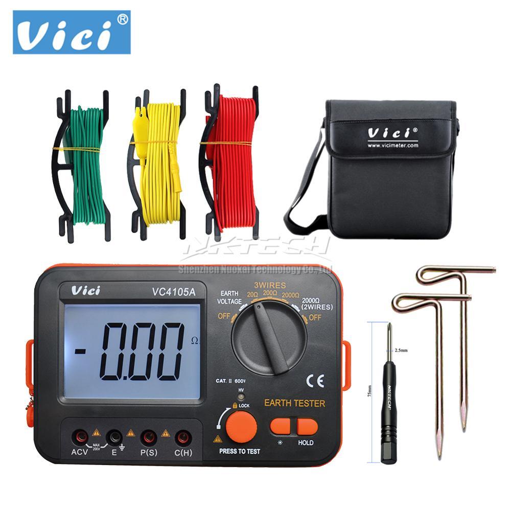 فيشي vc4105a lcd رقمي متعدد multimetro-أداة تشخيصية اختبار الأرض/الجهد اختبار متر B0410