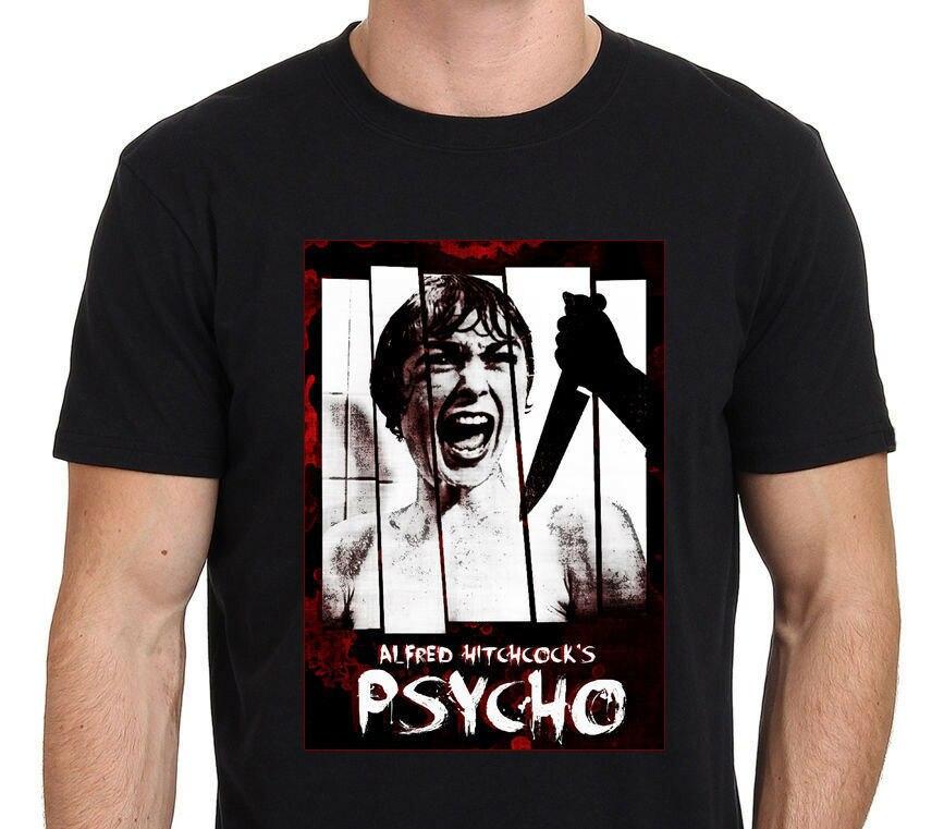 Camiseta PSYCHO ALFRED HITCHCOCK clásica arte de la película Horror para hombre tamaño S a 3XL volver al futuro anime camiseta harajuku