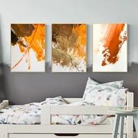 Toile de peinture abstraite de style nordique  rouge  Orange  noir  affiches et imprimes  images murales dart pour salon  decoration de la maison
