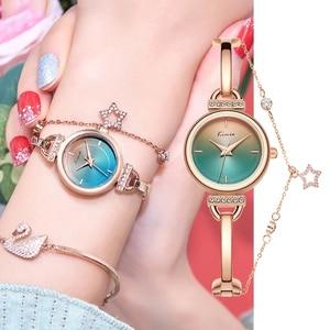 Gradient Color Quartz Watch Women Pentagram Star Luxury Bracelet Diamond Watch Ladies Evening Dress Womens Watches Gift