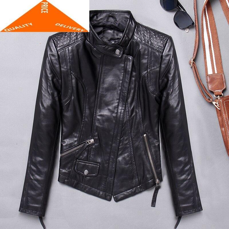 جاكيت نسائي من جلد الغنم الطبيعي 100% ، ملابس ربيعية شتوية من جلد الغنم ، 2020 ، 9895