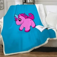 nknk unicorn blanket cute plush throw blanket horse bedding throw animal blankets for beds sherpa blanket animal high quality