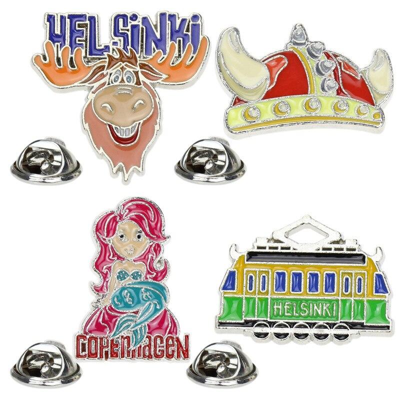 Insignias de Anime Hijab Pins broches esmaltados para mujeres Avatar Metal Pin lindo mujeres broche Anime insignias con esmalte para mochila arte Pins