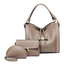 Ceossman 3 pièces/ensembles femmes sacs à main en cuir sacs à bandoulière femme grande capacité Sac fourre-tout décontracté sacs à main seau Sac de messager a main