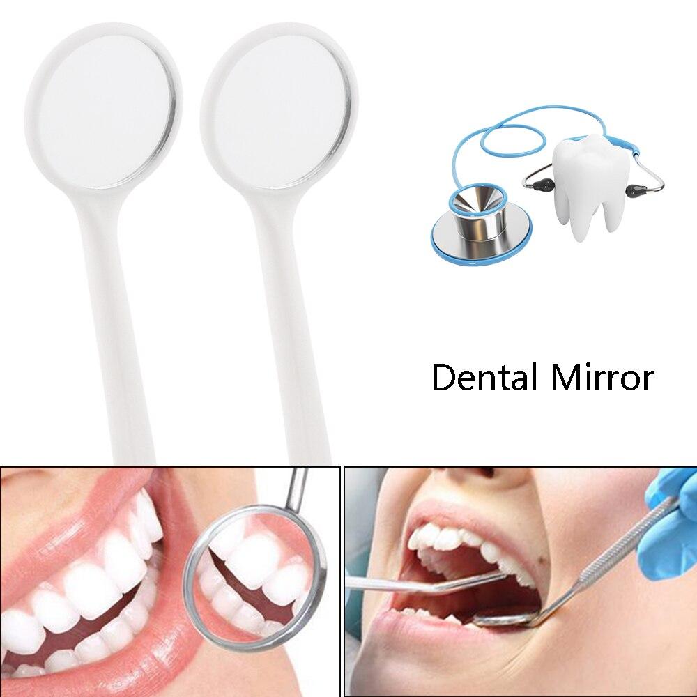Color aleatorio 1 Uds. Boca instrumental de espejo Dental para comprobar la extensión de las pestañas aplicar pestañas y dientes