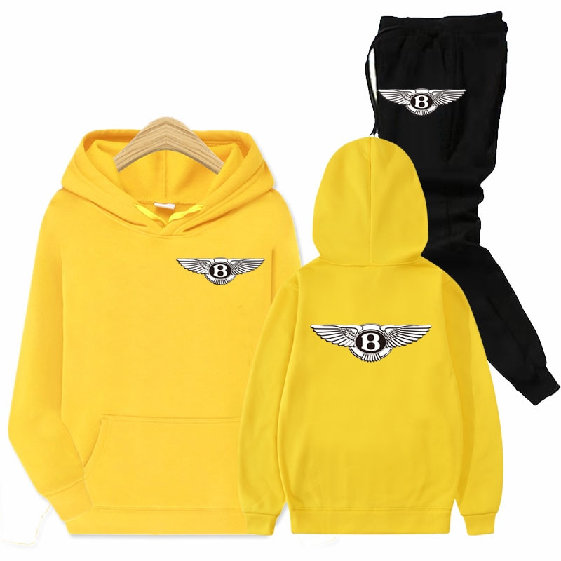 2021 Мужская спортивная одежда с логотипом автомобиля, толстовка с капюшоном + брюки, пуловер, повседневная свободная толстовка,