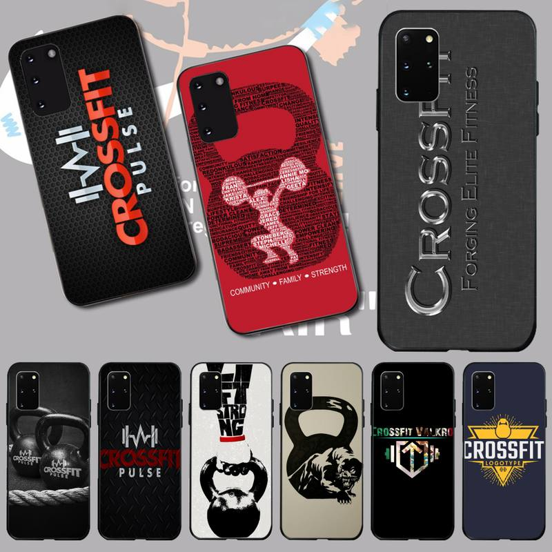 PENGHUWAN keep calm and crossfit on Phone Case for Samsung S20 plus Ultra S6 S7 edge S8 S9 plus S10