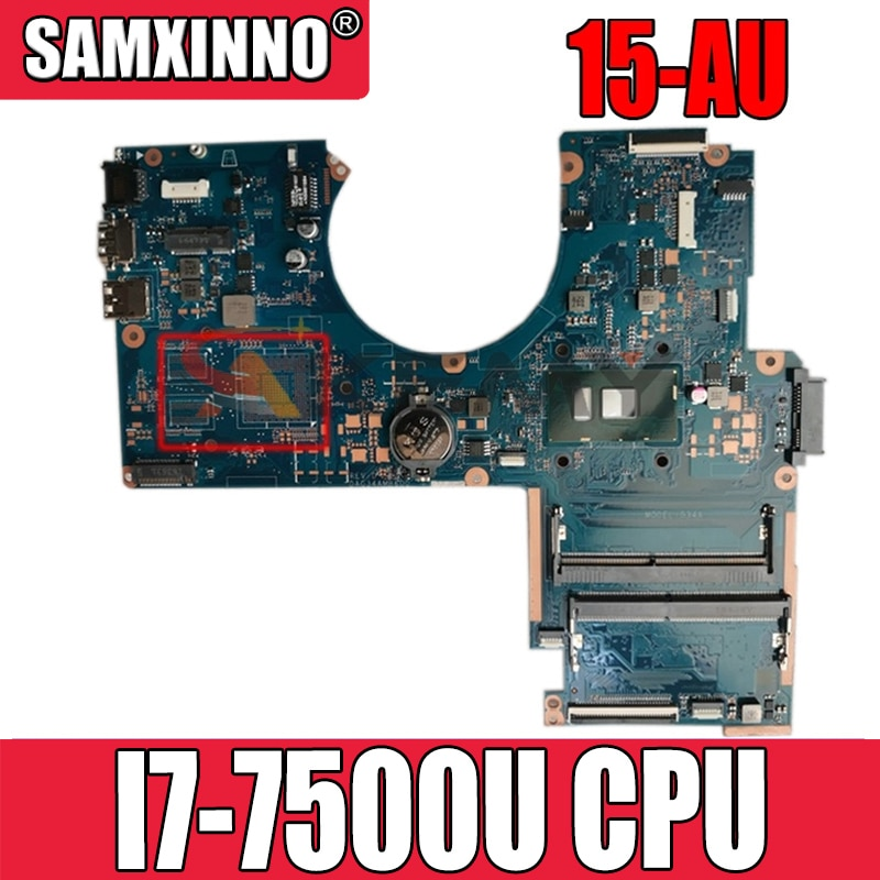 913604-001 913604-501 913604-601 ل TPN-Q172 HP 15-AU اللوحة المحمول DAG34AMB6D0 مع I7-7500U CPU DDR4 100% اختبار بالكامل