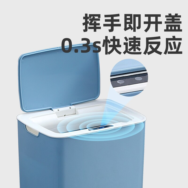 Modern Plastic Trash Bin Large Automatic Bedroom Kitchen Trash Can Living Room Toilet Bin with Lib Prullenbak Waste Bin DJ60LT enlarge