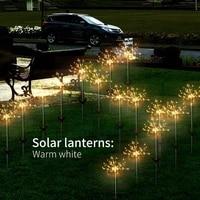 solar 90 led outdoor light waterproof eight function flashing light garden firework light christmas holiday decoration