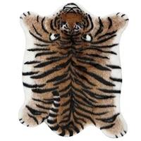 faux tiger print area rug comfortable soft fluffy fur durable stylish house decoration cute animal simulation carpet