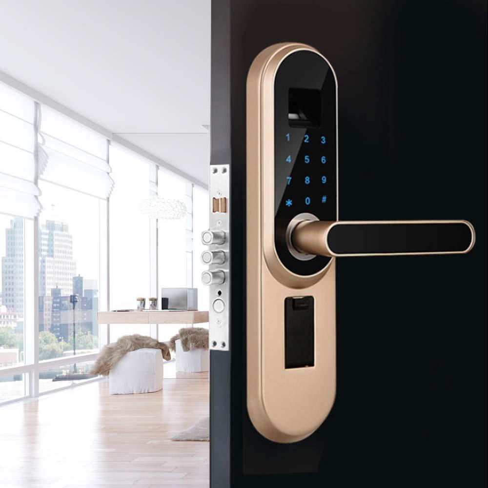 قفل بصمات الأصابع بكلمة مرور ، شاشة تعمل باللمس ، شاشة هاتف إنجليزية ، قفل ذكي رقمي مضاد للسرقة ، بدون مفتاح ، للاستخدام المكتبي
