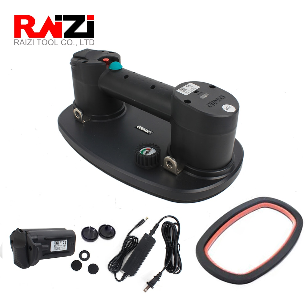 Raizi Grabo Electric Vacuum Suction Cupwith Rechargeable Battery for Wood Drywall Granite Glass Tile Slab Lifting Carry Tool He