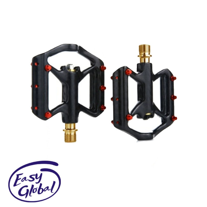 UltraLight Bicycle Carbon Fiber Pedals Lightweight Platform Pedal MTB Road Cycling Titanium Axle Pedals Three Bearing Pedals