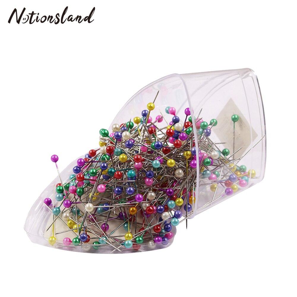 300 pièces/boîte broches 37mm ronde perle tête couture broches mariages Corsage bijoux bricolage faisant outil couture accessoires