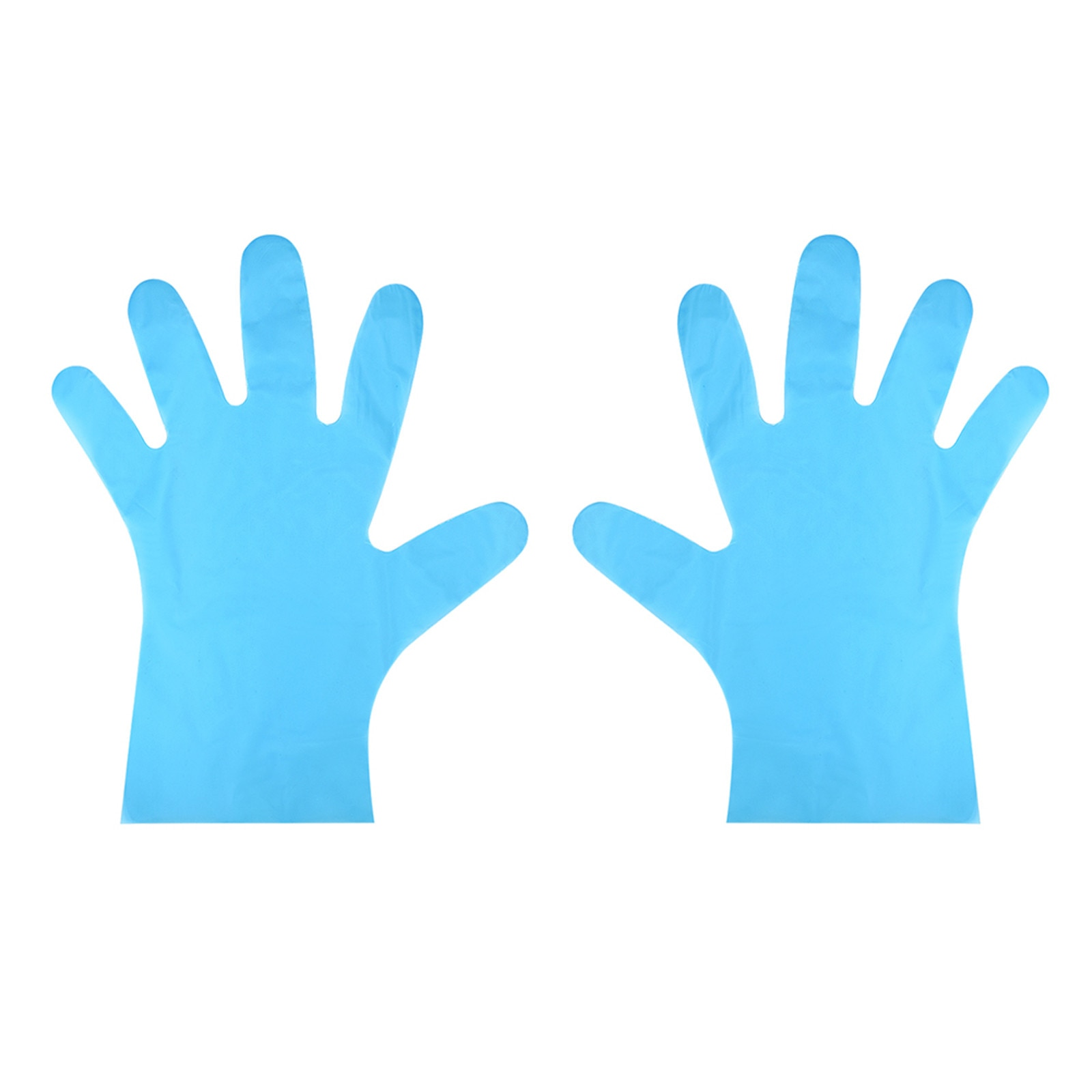 100pc Plastic Clear Disposable Gloves Garden Restaurant Home Food Baking Tool Kitchen Food Waterproo