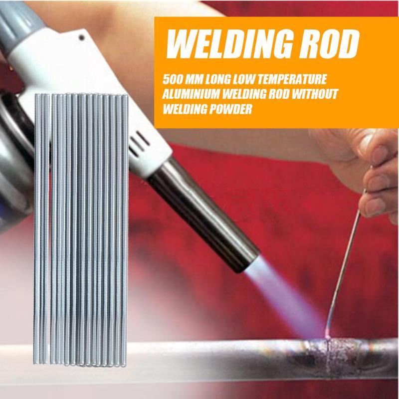 Barra de soldadura de aluminio de baja temperatura de 10 Uds., barras de soldadura, suministros de soldadura, barra de acero de fusión fácil para soldar