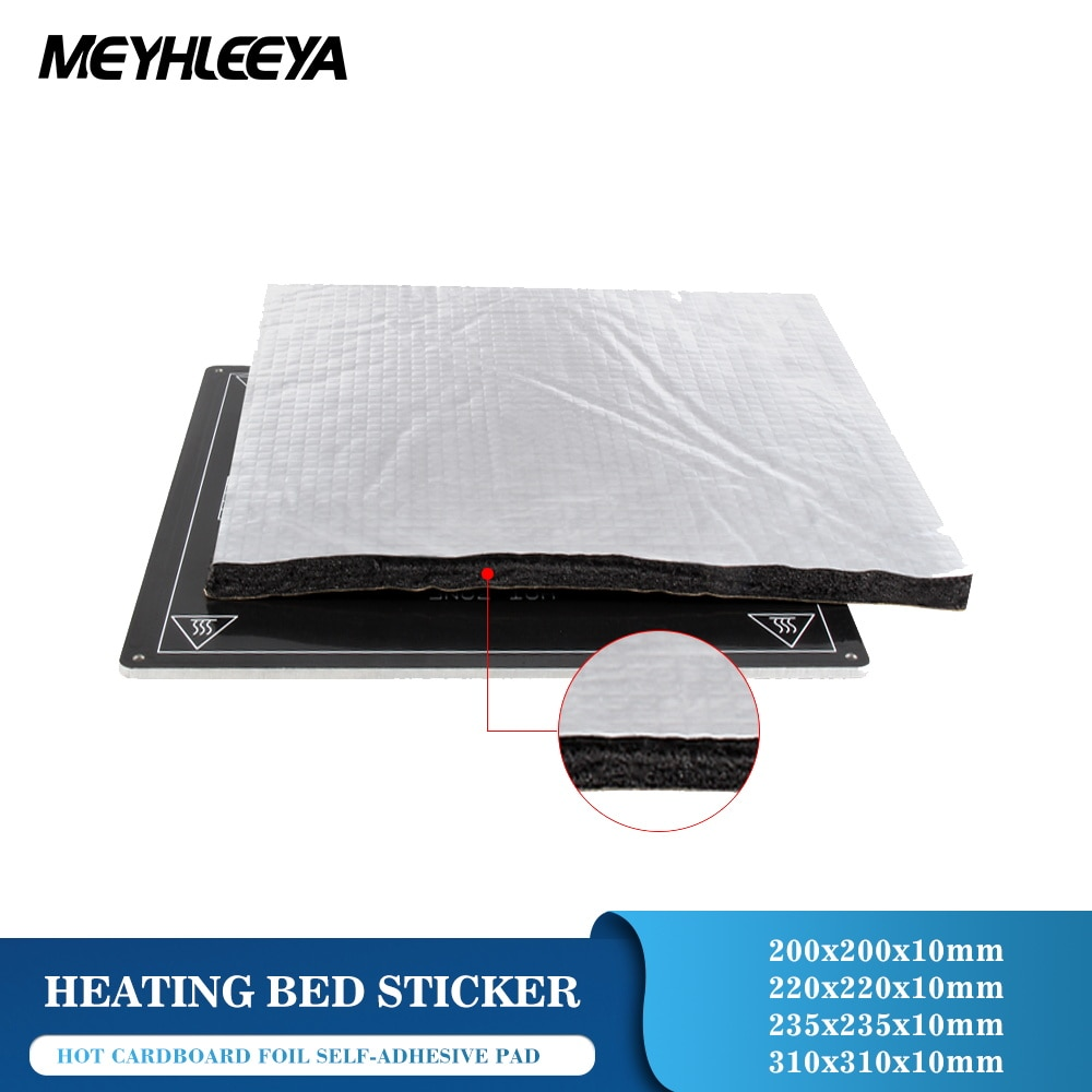 3d printer parts heat bed cotton 220 220 3mm hotbed thermal pad insulation cotton with cork glue reprap ultimaker makerbot Heat paper Plate Foil Self-adhesive Pad Heating Bed Sticker Insulation Cotton 3D Printer Parts