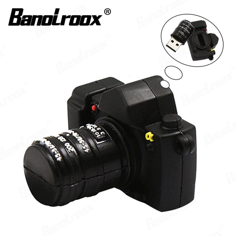 Modelo de cámara usb flash drive 64GB 32GB memoria pendrive 16GB USB Flash 8GB pendrive memoria stick pulgar driver mejor regalo