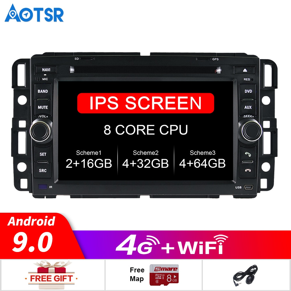 Octa Core Cd Dvd-speler 2 Din Stereo Android 9.0 Auto Radio Voor Hummer H1/H2 2008-2011 gps Navigatie Autoradio Autoradio Wifi Fm