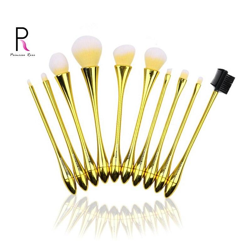 2020 promotion principale de 10 pièces de pinceaux de maquillage de beauté pour cheveux en nylon doux et rentables