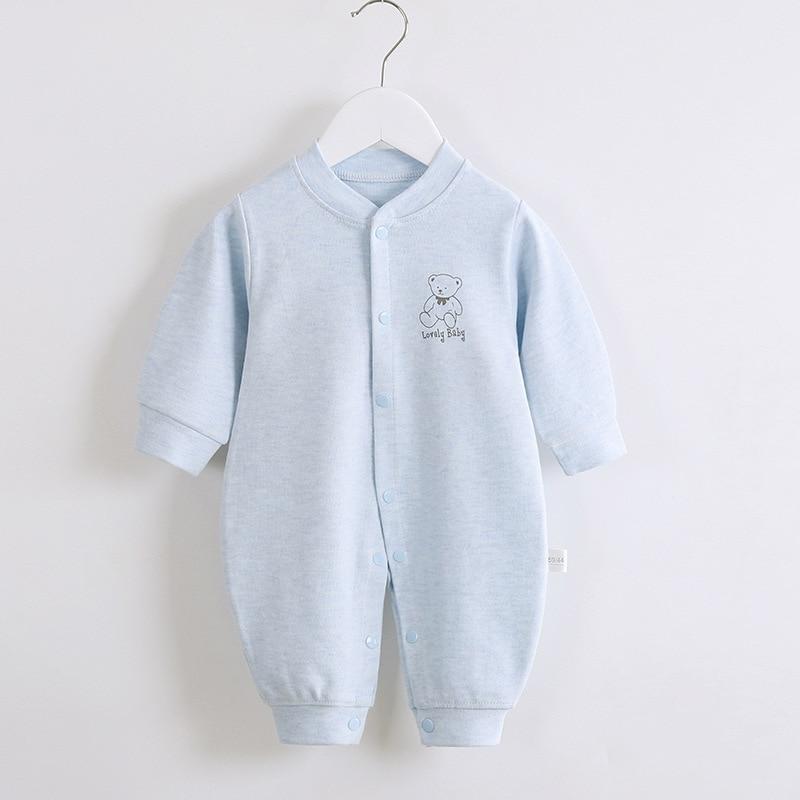 BABY BODYSUIT Spring and Autumn Shurongmianha Clothes 0-24 Months Newborn Clothes Newborn Boy Girl B