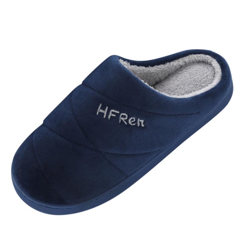 Pantuflas cálidas para invierno para hombre, par de modelos, colores sólidos, deslizamiento plano antideslizante, suelo de casa, zapatos suaves de alta calidad, calzado para hombre A40