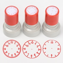 1PC Clock Stamp Teaching Tools for Kids Learning on Watch Multiple Style Student Teaching Tools Seal