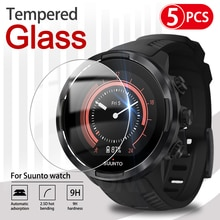 5Pcs 9H Premium Tempered Glass For Suunto Watch 3 / 5 / 7 / 9 Smart Watch Screen Protector Film Acce