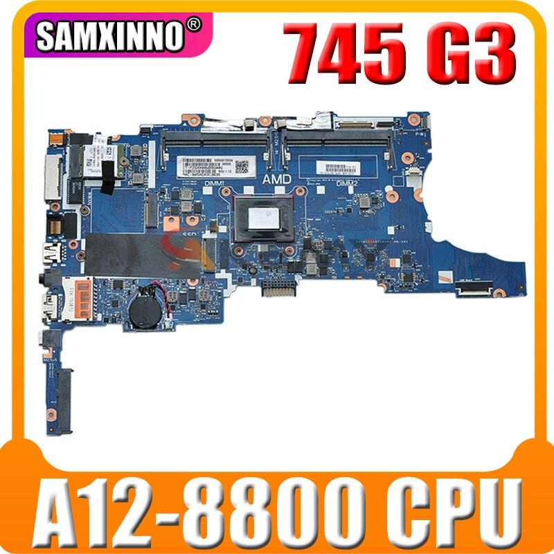 لوحة أم للكمبيوتر المحمول HP EliteBook 745 G3 845 G3 827576-001 مع معالج A12 Pro-8800 827576 501 MB 100% تم اختبارها بسرعة الشحن