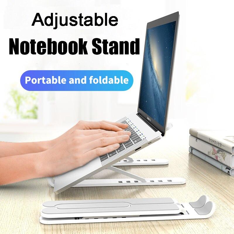 Suporte do portátil ajustável dobrável antiderrapante notebook suporte de riser portátil ergonômico para macbook pro ar ipad pro