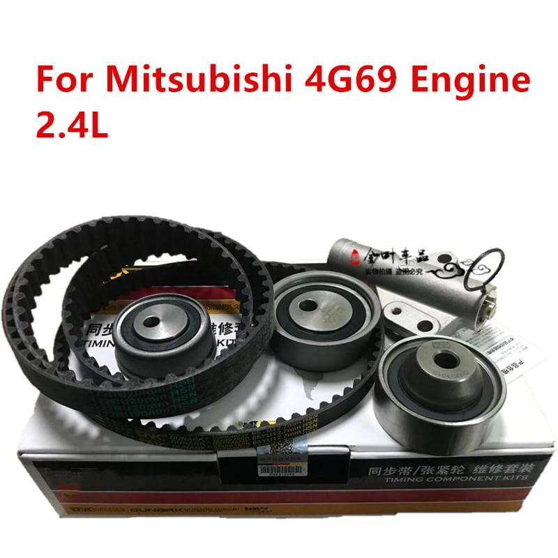 Engine Timing Kit For BYD F6 M6 S6 Mitsubishi 4G69 Engine 2.4L Timing Tensioner & Timing Belt & Idler