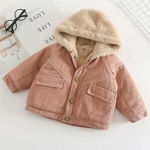 Autumn Children's Winter Jackets Clothes Plus Velvet Baby Boy Kids Jacket Children Clothing Girls Denim Jackets Outerwear  Coats