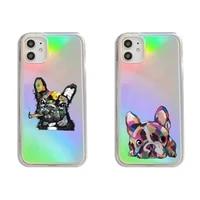 pug dog french bulldog phone case transparent for iphone 7 8 11 12 se 2020 mini pro x xs xr max plus