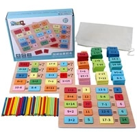 montessori wooden toy domino block math arithmetic toy addition subtraction counting game educational toys gift for children